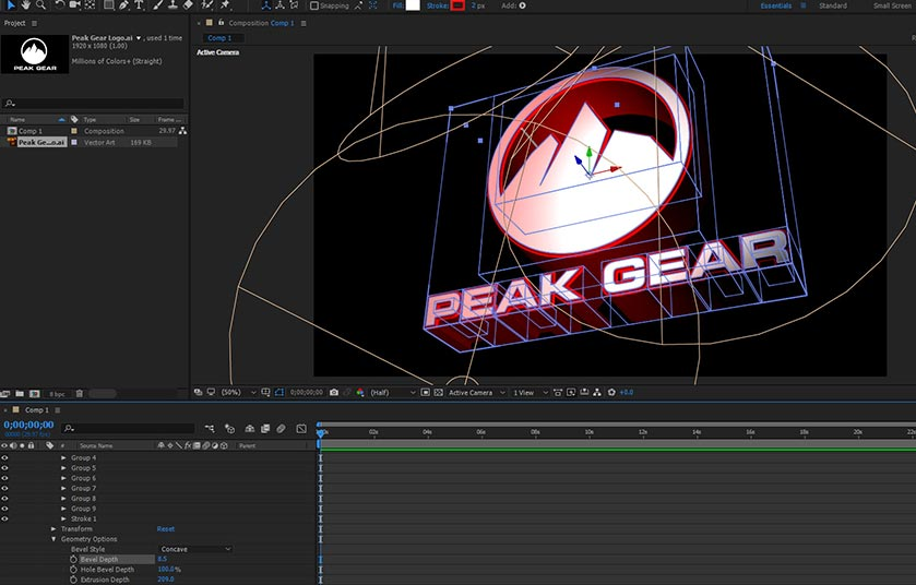 Final touches to logo before importing into After Effects