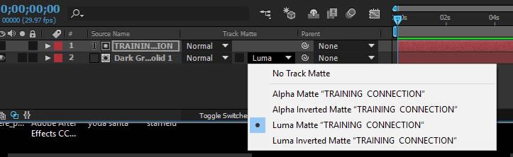Select Luma Matte option