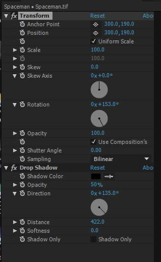 Re-order the effects in After Effects