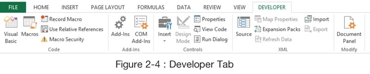 Ribbon Developer Tab