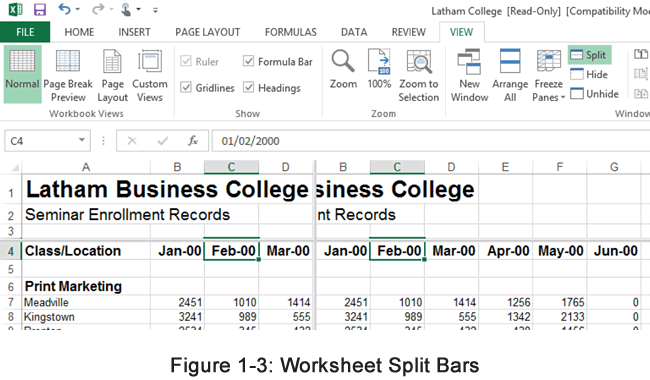 Split bars in Excel