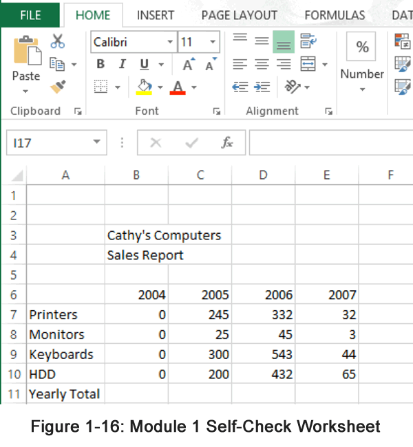 Excel Module 1 Assignment
