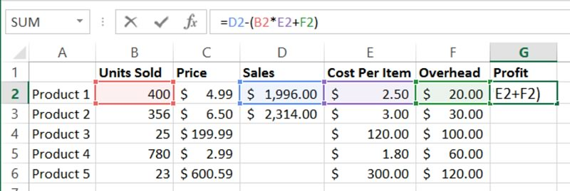 Excel Multiple Cell References | Training Connection