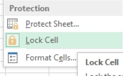 Protection>Lock Cell