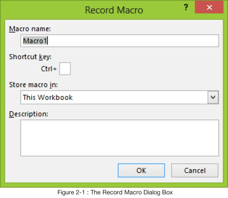 Record Macro Dialogue Box