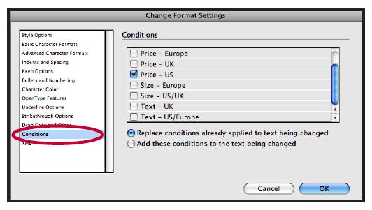 Change Format Setting