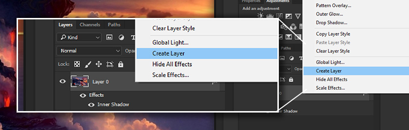 Create Layers in Photoshop