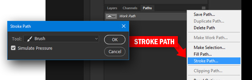 Stroke Path Menu