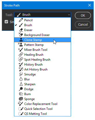 Stoke Path Tool Options