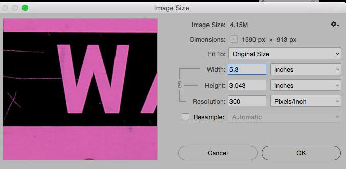 Set Image size