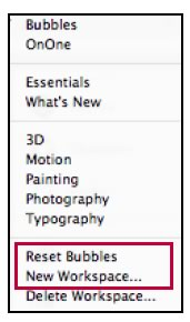 Photoshop Workspaces - Bubbles
