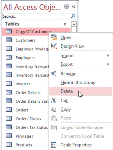 Copy and Delete From Context Menu
