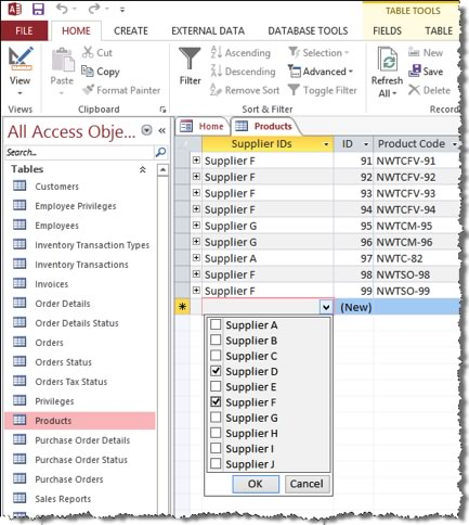Entering data into Microsoft Access