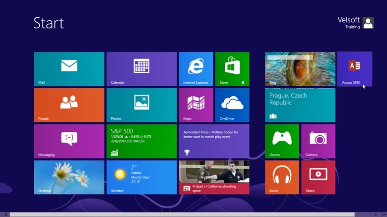 Start screen in Access