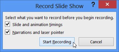 default recording settings