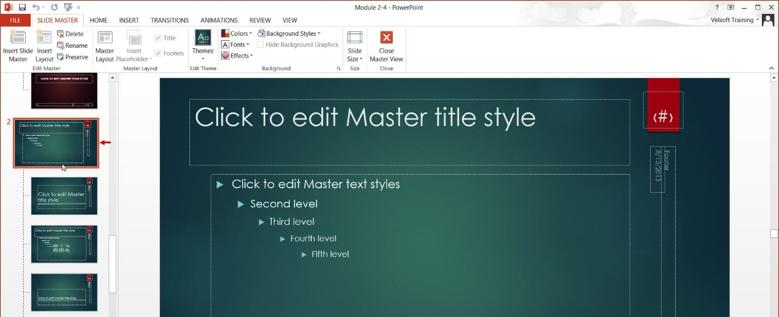 Ion Slide Master Delete