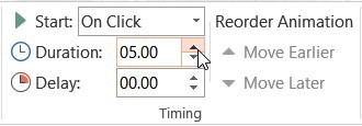 control animation time with duration box
