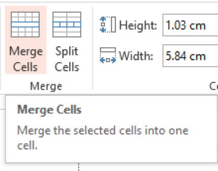 Merging Cells icon