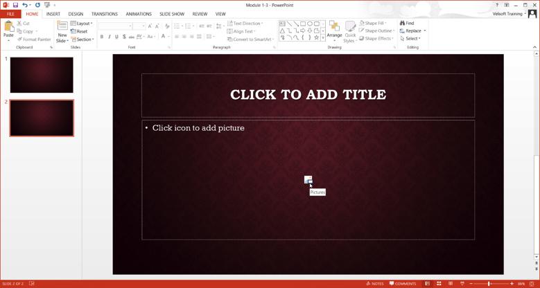 New Slide Appears In Presentation
