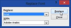 Replacement Font - Dialogue Box