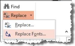 Replace Font Menu
