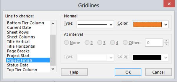 Gridline Dialogue Box