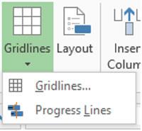 Menu>Gridlines