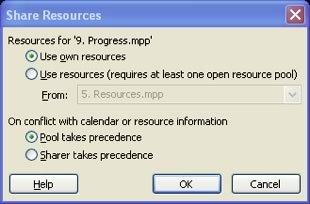 Share Resources Dialog Box