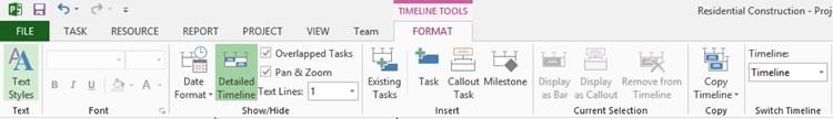 Timeline Format Command
