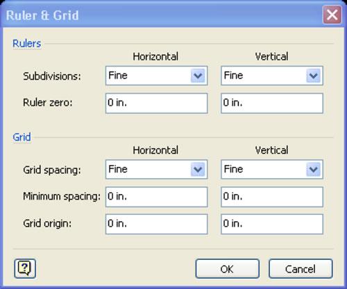 Ruler & Grid Panel