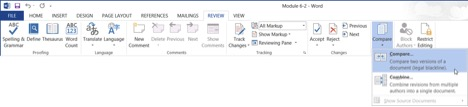 comparing documents screenshot