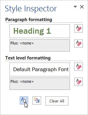 view formatting details