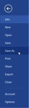 saving as format in Word
