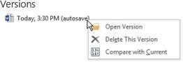 right click Word versions screenshot
