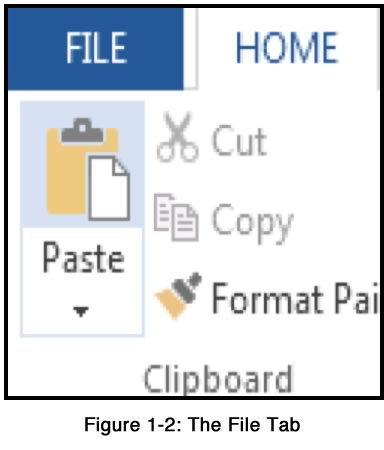 The File Tab